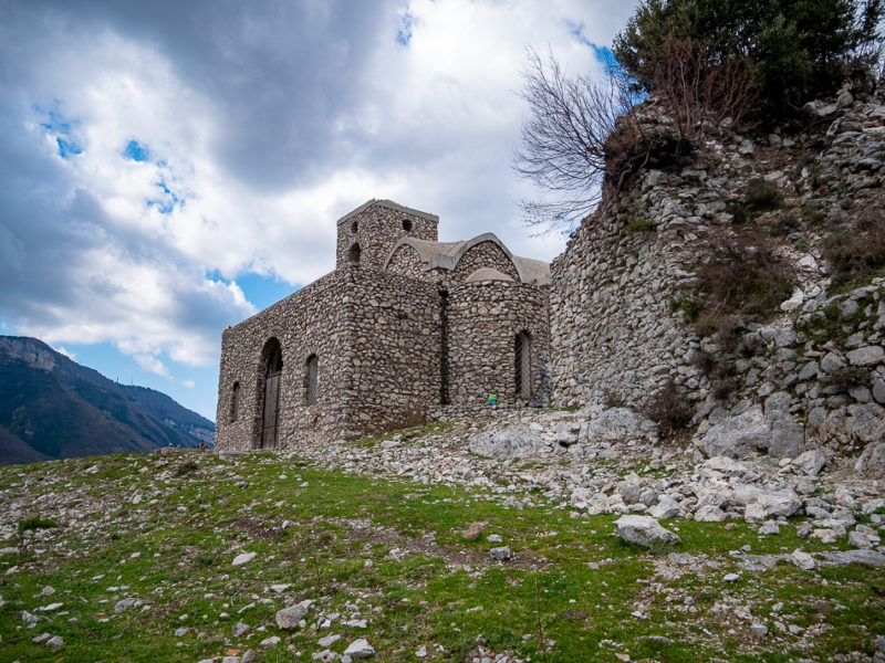 church of Santa Maria Del Pino, hermitage in Gragnano, Lattari Mount, Naples, Campania, Iataly